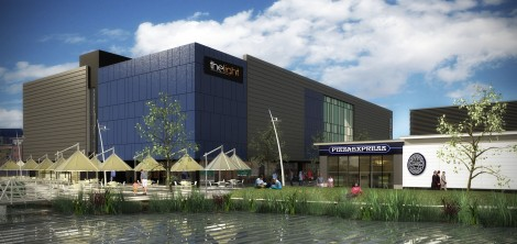 Artists impression of the 'Light' cinema now under construction
