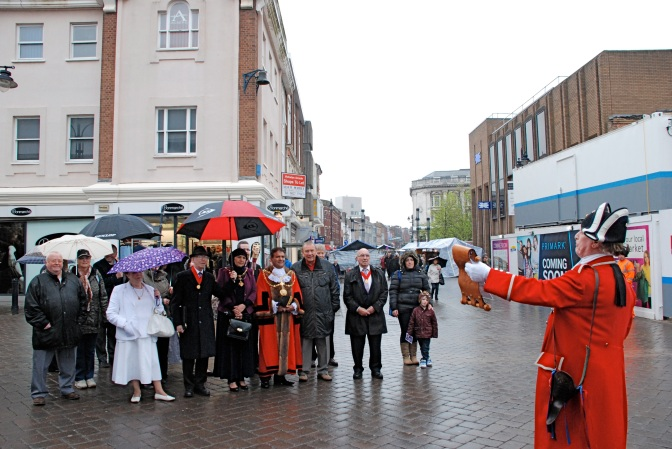 Walking the Fair 2014 - then Mayor Cllr Mohammad Nazir leads (Pic: Stuart Williams, BT)