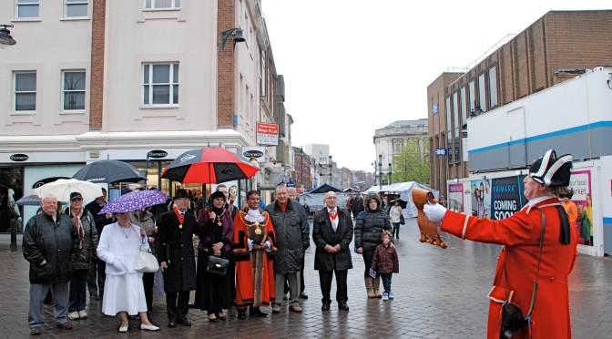 Walking the Fair 2014 - then Mayor Cllr Mohammad Nazir leads (Pic: Stuart Williams, BT)