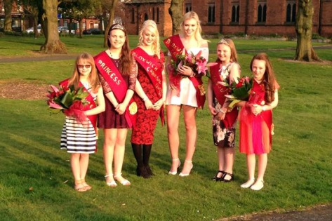Carnival royalty at All Saints Church (pic Bloxwich Carnival)