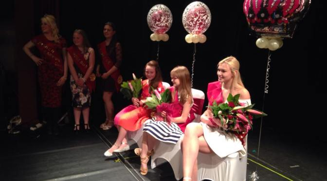 Carnival royalty on stage at Bookmark Bloxwich Theatre (pic Bloxwich Carnival)