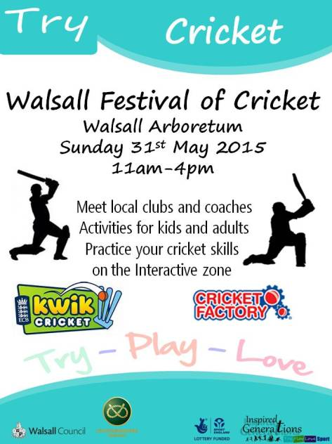 Walsall Festival of Cricket handbill (Walsall Council)