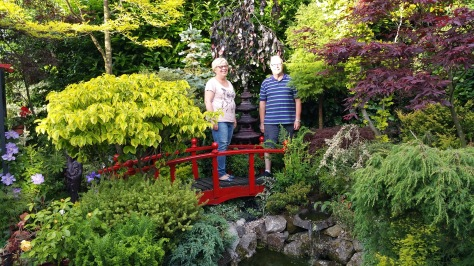 Julie and John Quinn on their 'bridge over troubled waters' in the Small but Beautiful garden