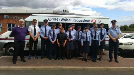 196 Squadron help out at Bloxwich Senior Citizens Party 2015 (pic Roy Peace).