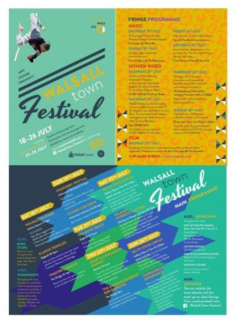 Walsall Town Festival Programme - click to enlarge