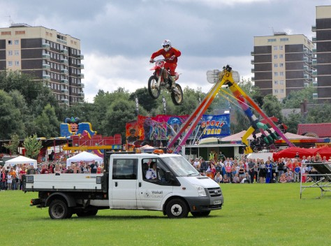 An interesting use for a Walsall Council truck!