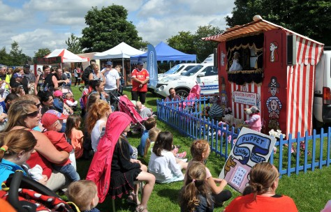 Packed out for Pinxton Puppets