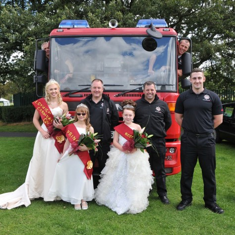 The ladies love firemen - and Bloxwich White Watch loved their royal visit!
