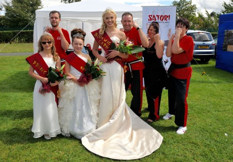 The Satori Freestyle Martial Arts team offer the Bloxwich royals their protection