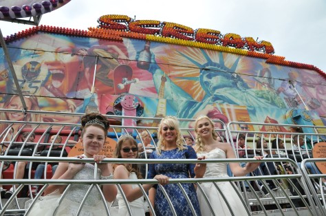 The scream queens of Bloxwich Carnival get ready to step aboard a hair-raising ride!