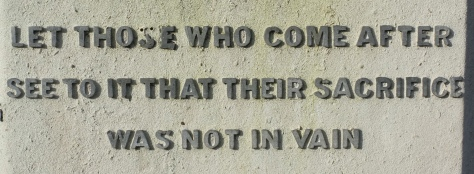Words on the Bloxwich War Memorial (pic Stuart Williams)