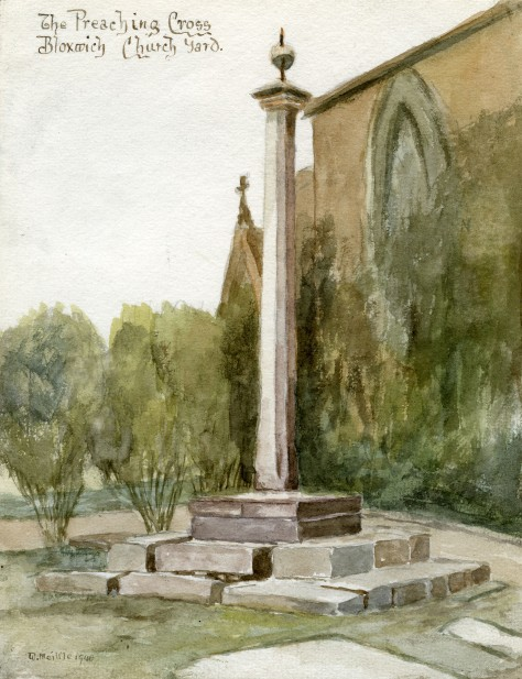 The Preaching Cross, 1940 (watercolour by Billy Meikle)