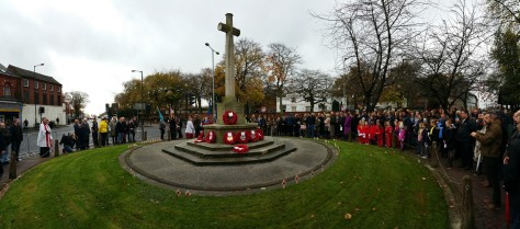 Paying tribute at Bloxwich War Memorial -- lest we forget... (pic Stuart Williams)