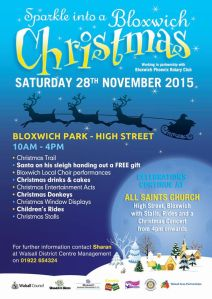Sparkle into a Bloxwich Christmas - Click to enlarge.