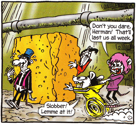 Panel from 'Ratz', one of Hunt Emerson's Beano comic strips