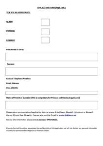 Bloxwich Carnival Royalty 2016 Application page 2 (click to enlarge)