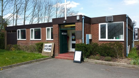 It was a quiet start to the day for the Little Bloxwich polling station at Holy Ascension Church