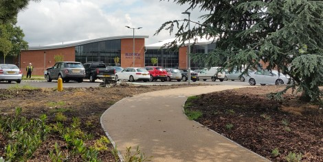 The new Bloxwich Active Living Centre before completion (pic S. Williams)