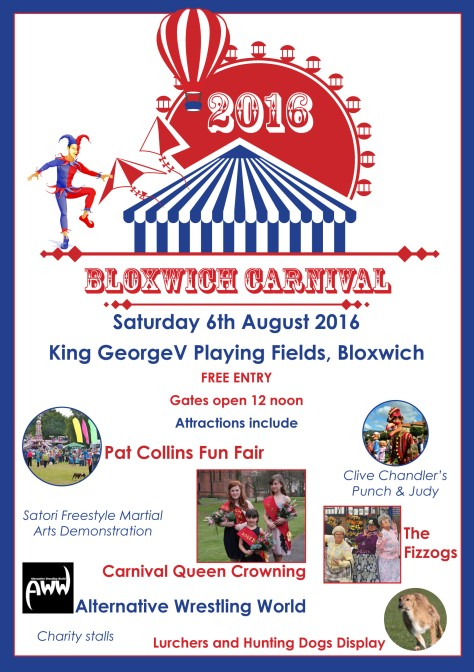 Bloxwich Carnival 2016 Poster - click to enlarge