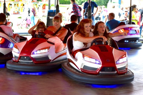 Dodgy driving on the Dodgems - courtesy of Bloxwich Carnival Royalty and Pat Collins' Fun Fair!