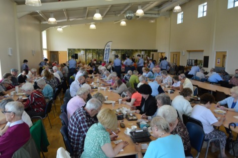 Playing Bingo at this year's Bloxwich Carnival Senior Citizens' Party at the Stan Ball Centre