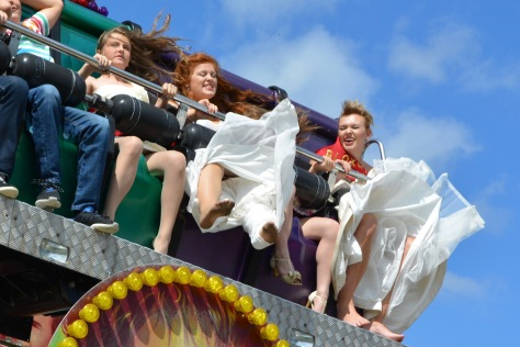 Wild times high up on the Scream ride for Carnival royals and more!