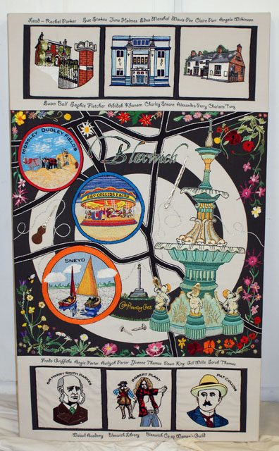 This stunning main Bloxwich tapestry is just one of those relating to the Bloxwich area.