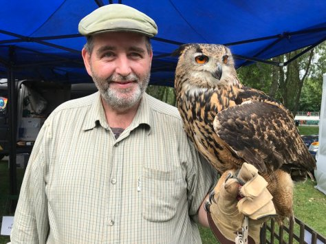 Bob Park and one of the amazing Armitage Birds of Prey