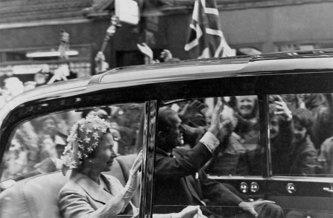 Her Majesty Queen Elizabeth II and Prince Philip arrive at Walsall Council House, 27th July 1977