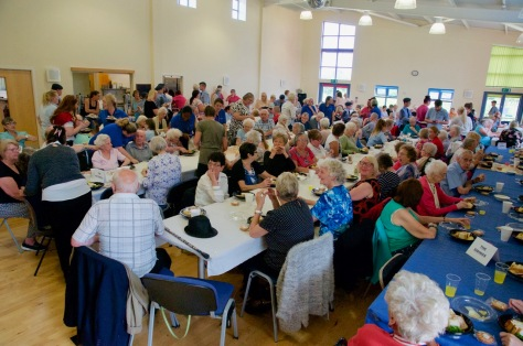 Party lunch is served at the Stan Ball Centre for Bloxwich Carnival Senior Citizens Party 2017