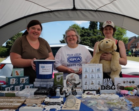 Becky Weeks, Suzanne Williams and Cheryl Jones of Walsall RSPCA
