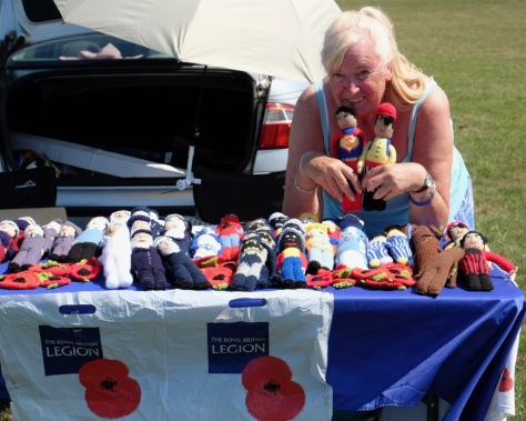 Janet Cook, a fundraiser for the Royal British Legion Poppy Appeal.